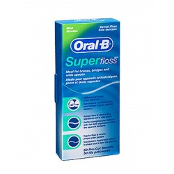 Seda Dental Oral B Super Floss Sin Cera