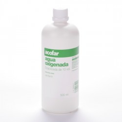 Agua Oxigenada 10 Vol Acofar 500 Ml