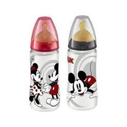 Biberon Nuk Plast Mickey Latex 1M 300 Ml