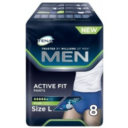 TENA MEN ACTIVE FIT PANTS PLUS L 8 UNI