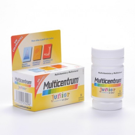 Multicentrum Junior 30 Comprimidos Masticable