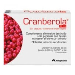 Arko Cranberola Ciscontrol 140 Mg 60 Cap