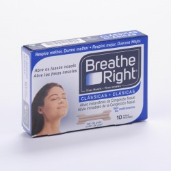 Tira Nasal Breathe Right Med Pño 10 Uni